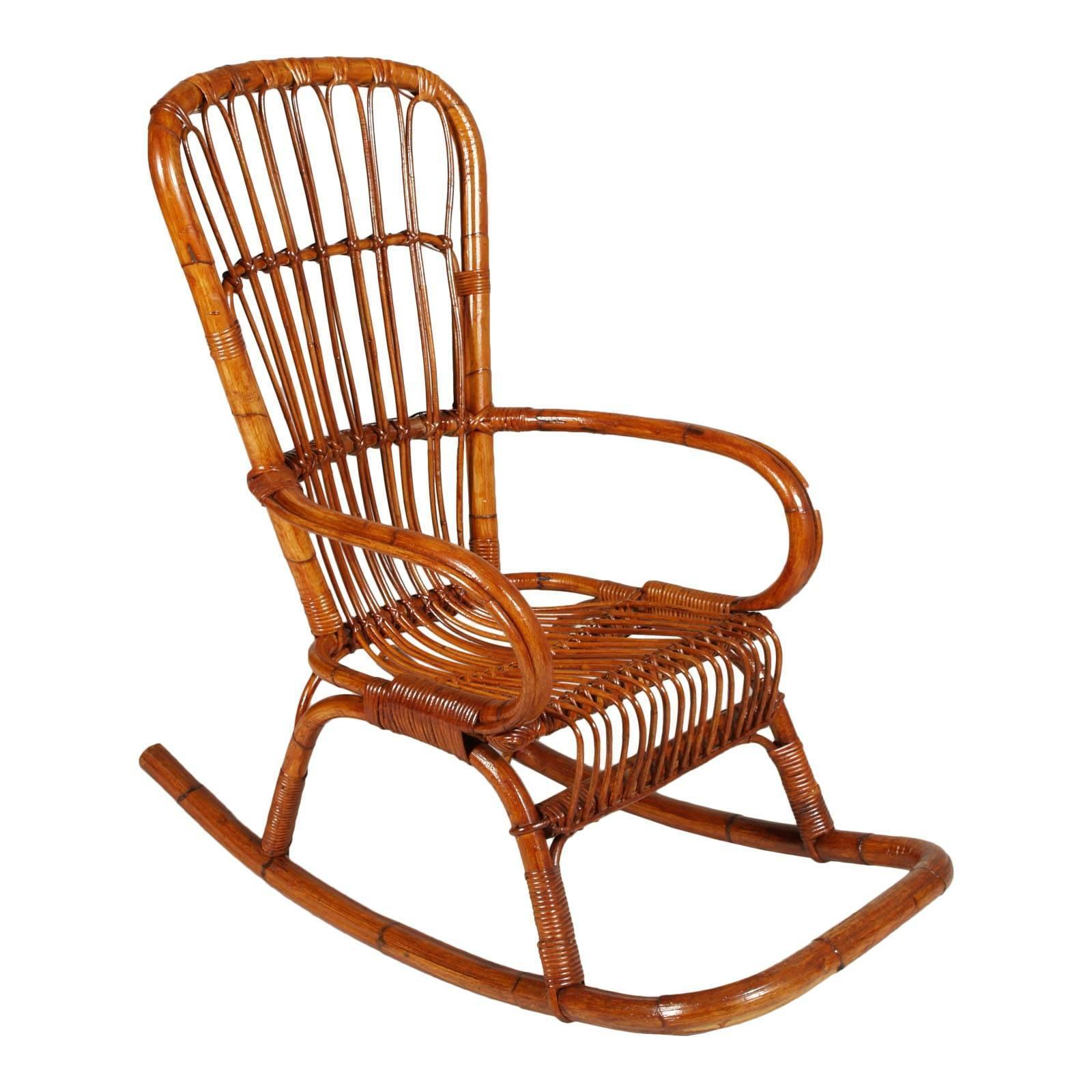 Super Italian Mid Century Modern Bamboo Rocking Chair Attributable Vittorio Bonacina Gmtry Best Dining Table And Chair Ideas Images Gmtryco