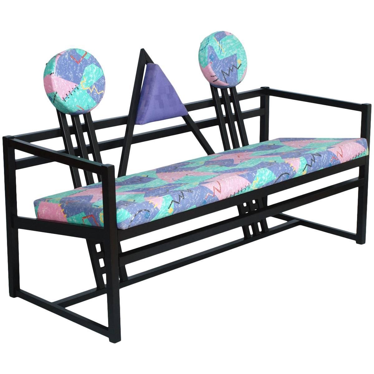 Superb Mid Century Bench Sofa In The Manner Of The Neo Plasticist Gerrit Rietveld Spiritservingveterans Wood Chair Design Ideas Spiritservingveteransorg
