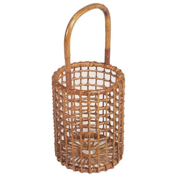 1950s Curved Wicker Basket Umbrella Stand By Franca Helg For Vittorio Bonacina