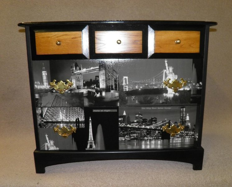 Vintage Stag Chest Of Drawers + Free Delivery
