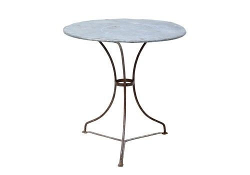 1920's Round Metal Bistro Table