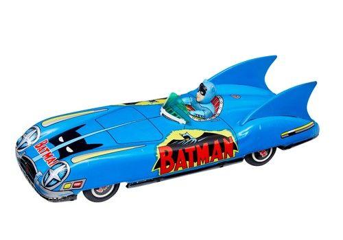 1960's Japanese Friction Bat Mobile By Asc Aoshin