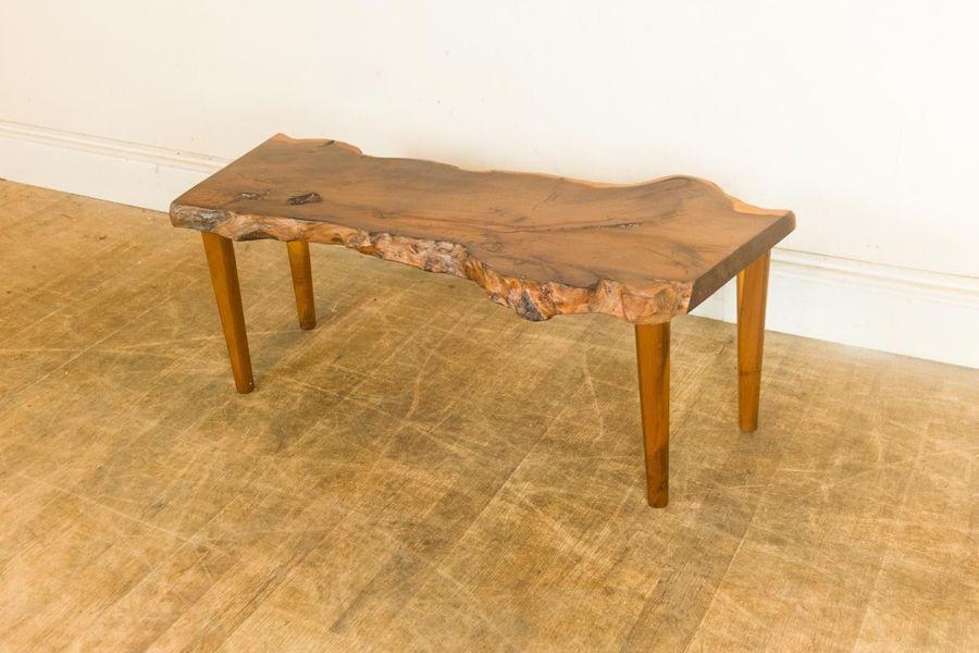 Wood Slice Coffee Table.Vintage Retro Wood Slab Wood Slice Coffee Table