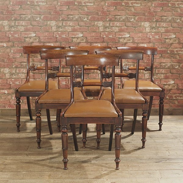 William Iv Set Of 6 Dining Chairs