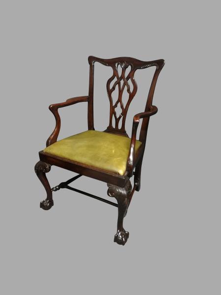 Wondrous Superb Mahogany Desk Chair By R Mills Brighton Machost Co Dining Chair Design Ideas Machostcouk