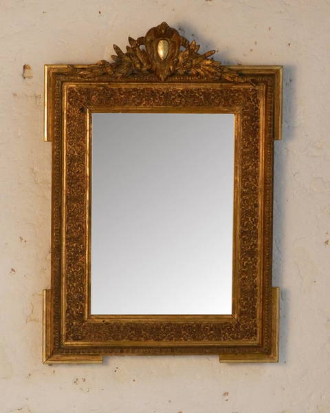 Traditional Giltwood Mirror From South West France photo 1