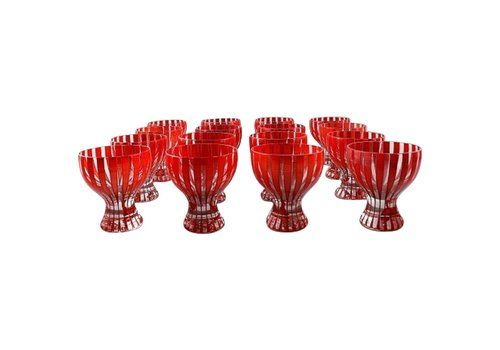 "Set Of 16 Cocktail Glasses, ""Strict"" By Bengt Orup For Johansfors, 1950s"