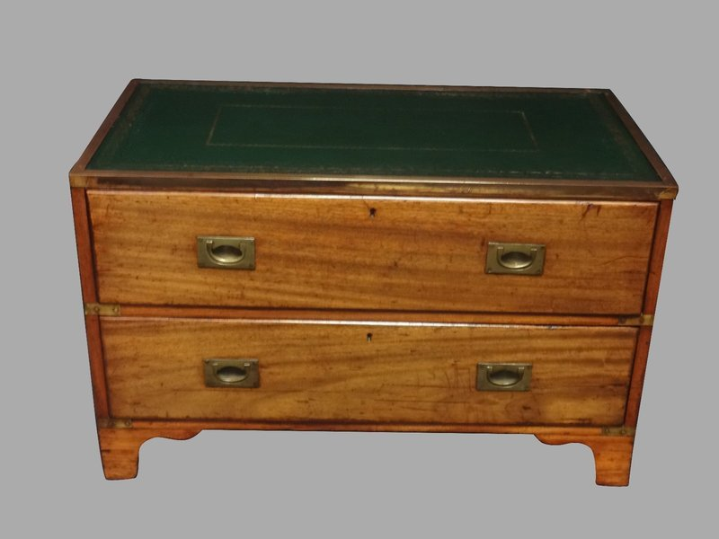sale retailer 7f8aa 818e6 Two Drawer Mahogany Campaign Chest Of Drawers C.1880