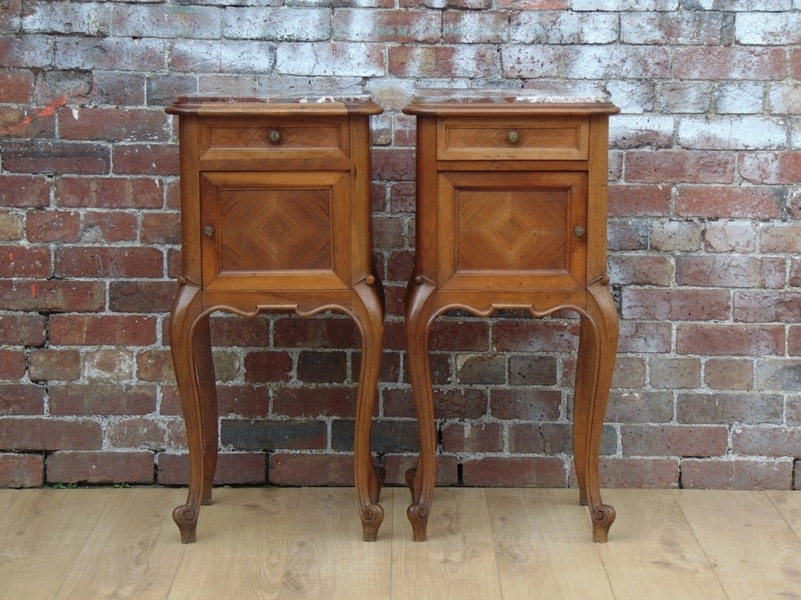 Pair Antique Bedside Cabinets