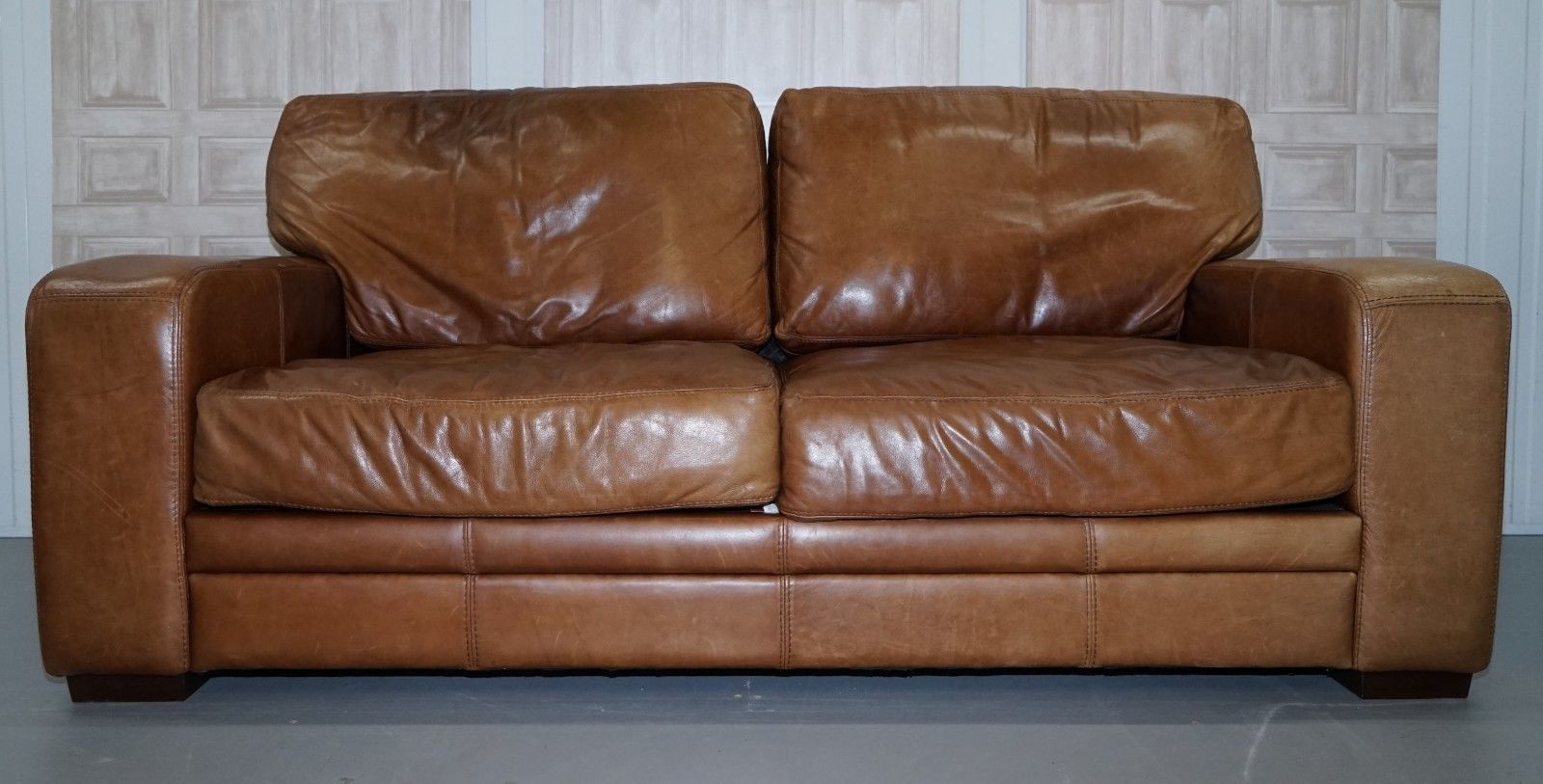 Soho Lush Two Seater Leather Sofa Bed