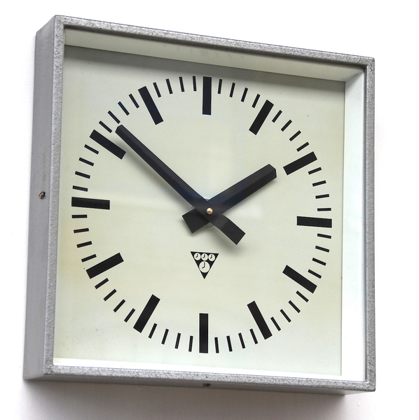 1970s Czech Made Vintage Industrial Wall Clock. Fully Guaranteed.