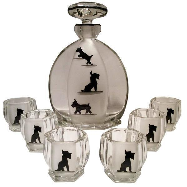 Art Deco Liqueur Set