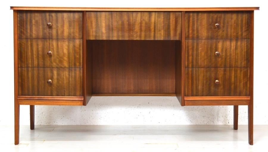 Mid Century Walnut Desk By Vanson photo 1