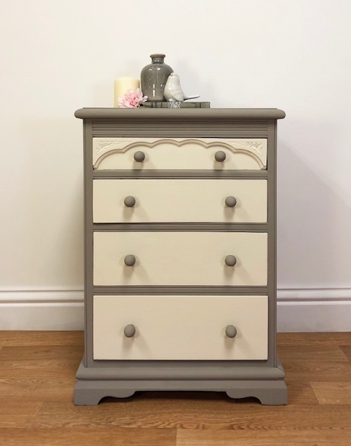 Chest Of Drawers Storage Bedroom Furniture Office Nursery Hallway Hand Painted Vintage Upcycled