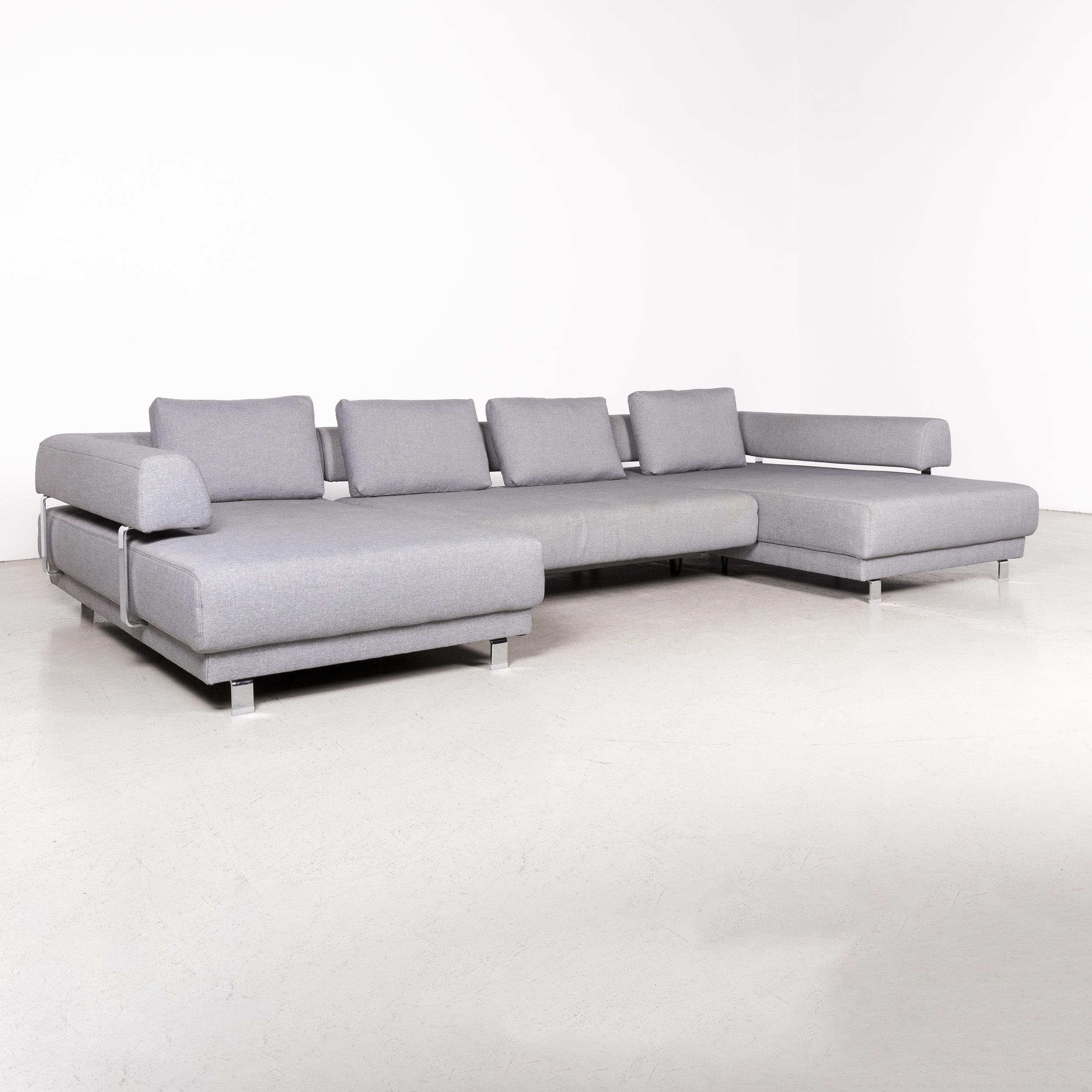 Ewald Schillig Brand Face Designer Corner Sofa Gray Sofa Function