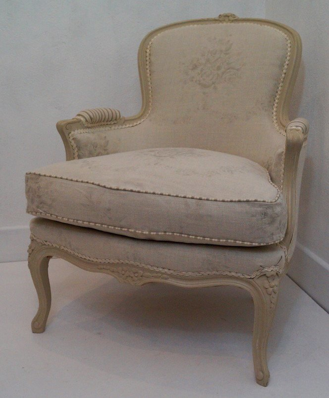 Outstanding Vintage French Louis Xv Bergere Armchair Upholstered In Kate Forman Grey Sophia Download Free Architecture Designs Grimeyleaguecom