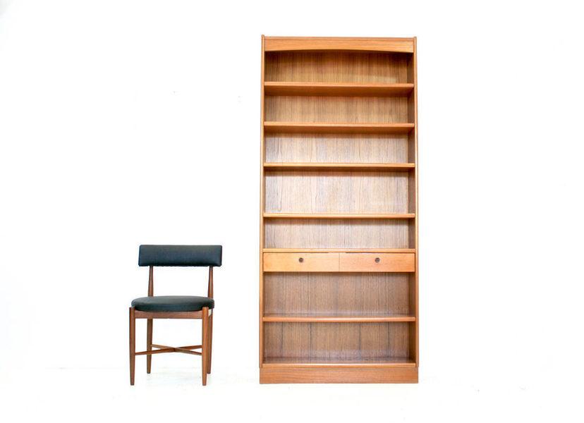 Large Vintage 1970s Teak Parker Knoll Bookcase | Parker ...