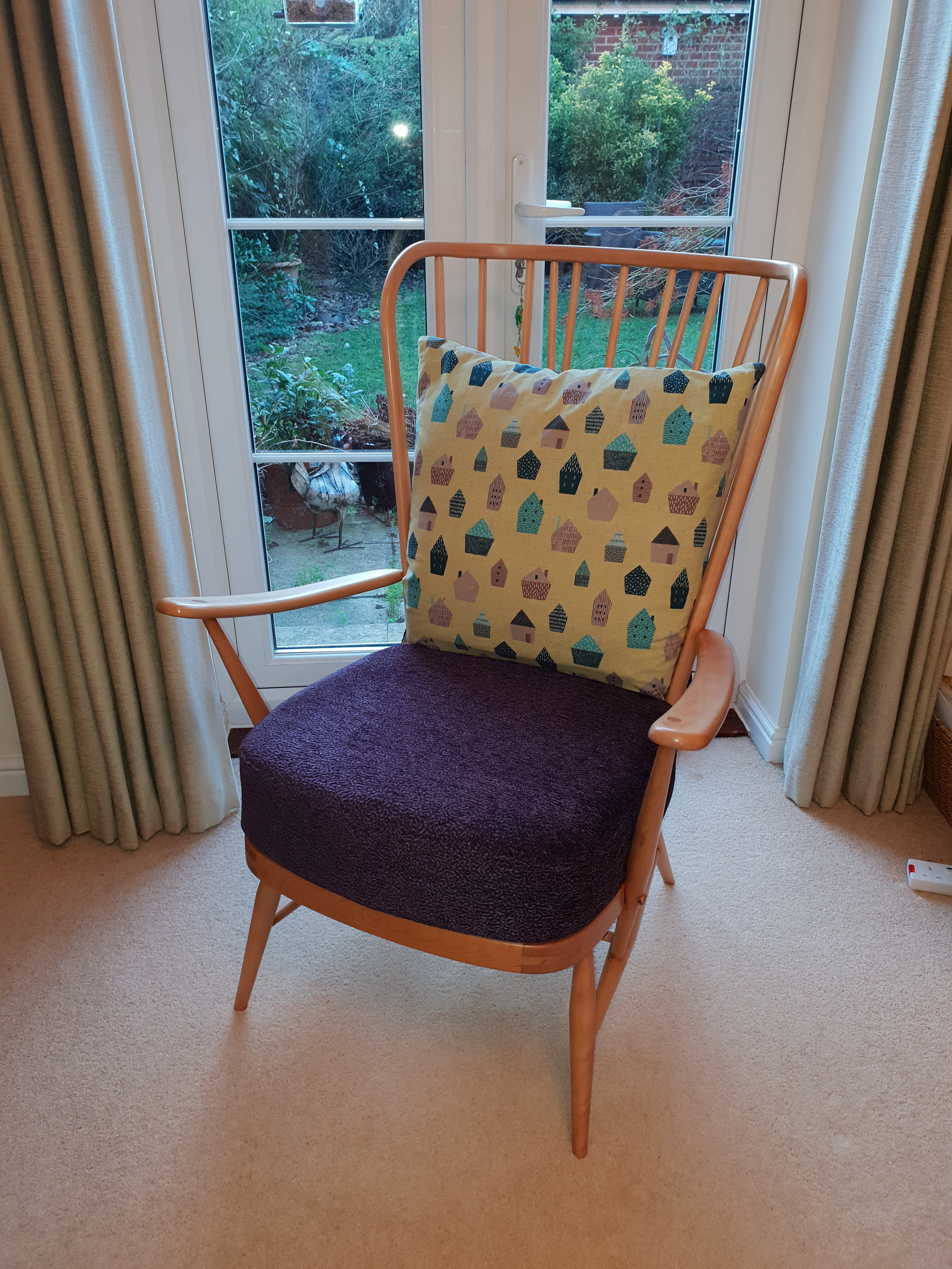Outstanding Vintage Mid Century Ercol Windsor Tall Back Easy Chair 478 Retro Armchair Creativecarmelina Interior Chair Design Creativecarmelinacom