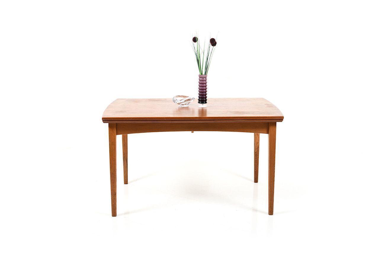 Mid Century Danish Teak And Oak Dining Table