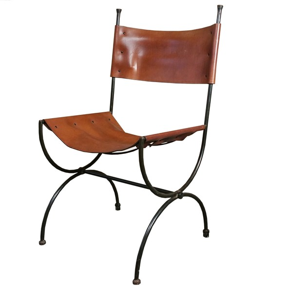 Charleston Forge Saddle Leather Embassy Chair Ch3 Hand Made