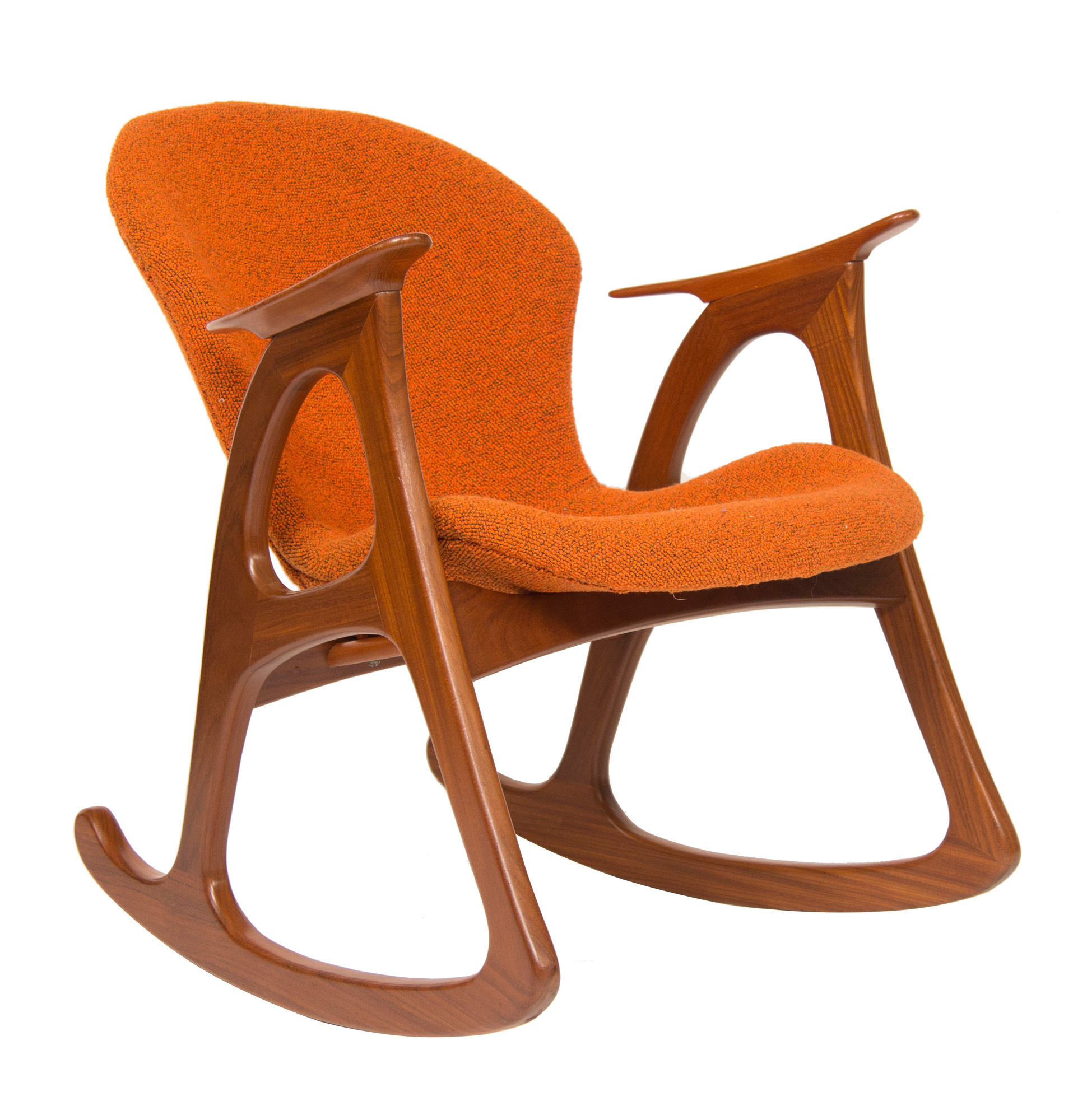 Super Midcentury Rocking Chair By Aage Christiansen For Erhardsen Andersen Creativecarmelina Interior Chair Design Creativecarmelinacom