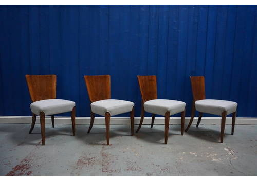 Art Deco Dining Chairs H 214 By Jindrich Halabala For Tho