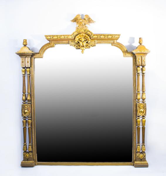 Antique Victorian Giltwood Overmantel Mirror C1860 photo 1
