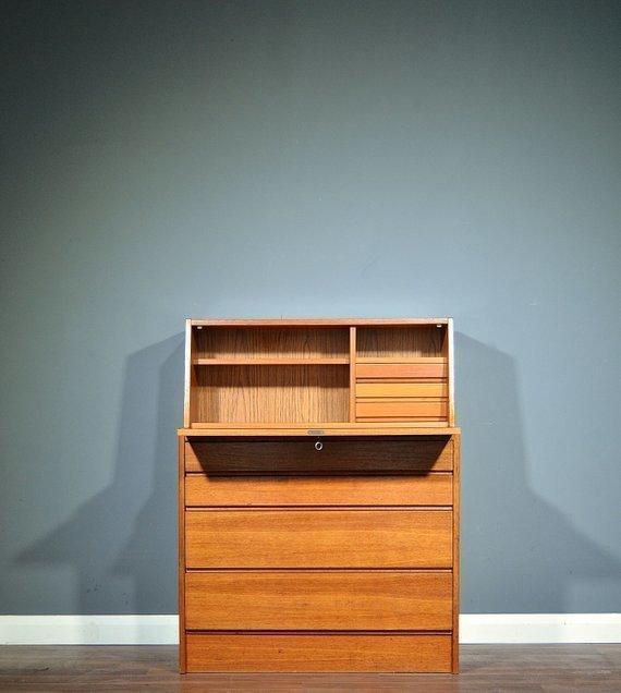 Bureau Retro Design.Vintage Midcentury Teak Bureau Drinks Cabinet Desk Delivery Modern Retro Danish Style