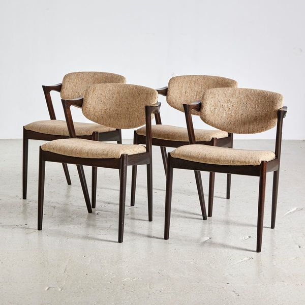 Mid Century Model 42 Chairs By Kai Kristiansen For Schou Andersen, 1960s, Set Of 4