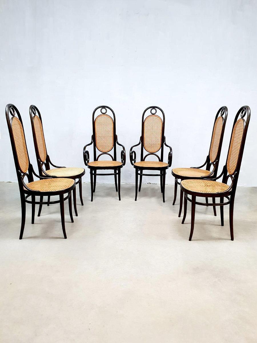 Set Van Eetkamerstoelen.Set Of 6 Vintage Design Eetkamerstoelen Dining Chair Thonet