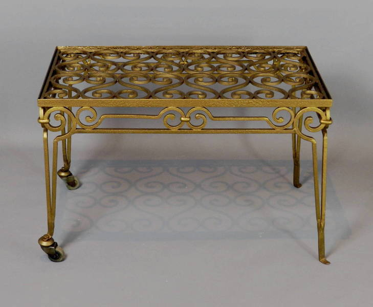 French Gilt Iron Conservatory Coffee Table