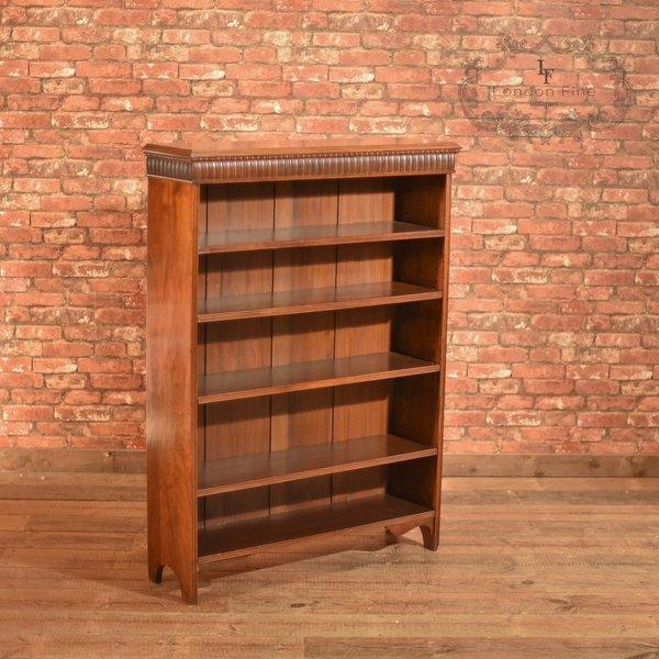 Late Victorian, Walnut, Open Book Shelf, C.1900