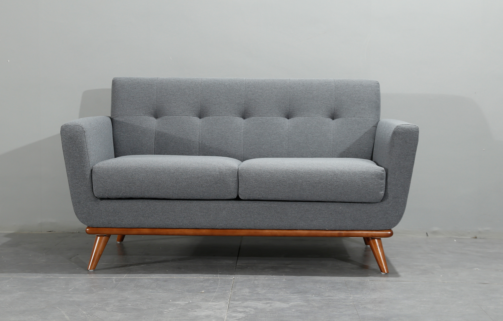 New Design Scandinavian Style Charcoal Grey 2 Seater Sofa Premium Quality Free Uk Delivery