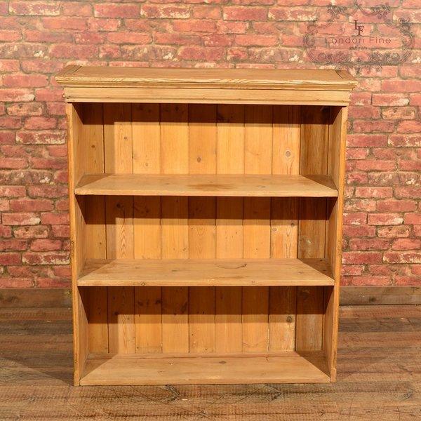 Victorian Pine Bookcase, Dresser Top C.1900 photo 1