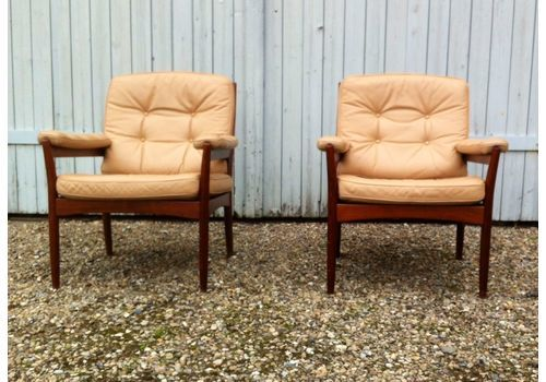 Super Mid Century Leather Chairs Vinterior Bralicious Painted Fabric Chair Ideas Braliciousco