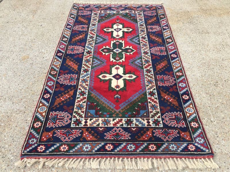 John Lewis Handmade Turkish Rug Vegetable Dye Persian Afghan Red