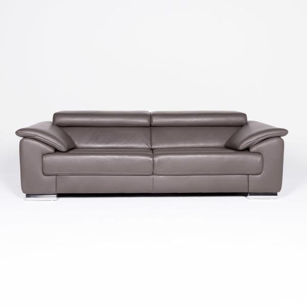 Ewald Schillig Brand Blues Leather Designer Sofa Brown Genuine ...