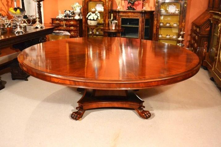 Vintage Regency Dining Table 7ft Round Mahogany