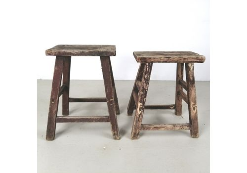 Benches & Stools Antique Milking Stool Wooden Stool Man Cave Vintage Highly Polished 1900-1950