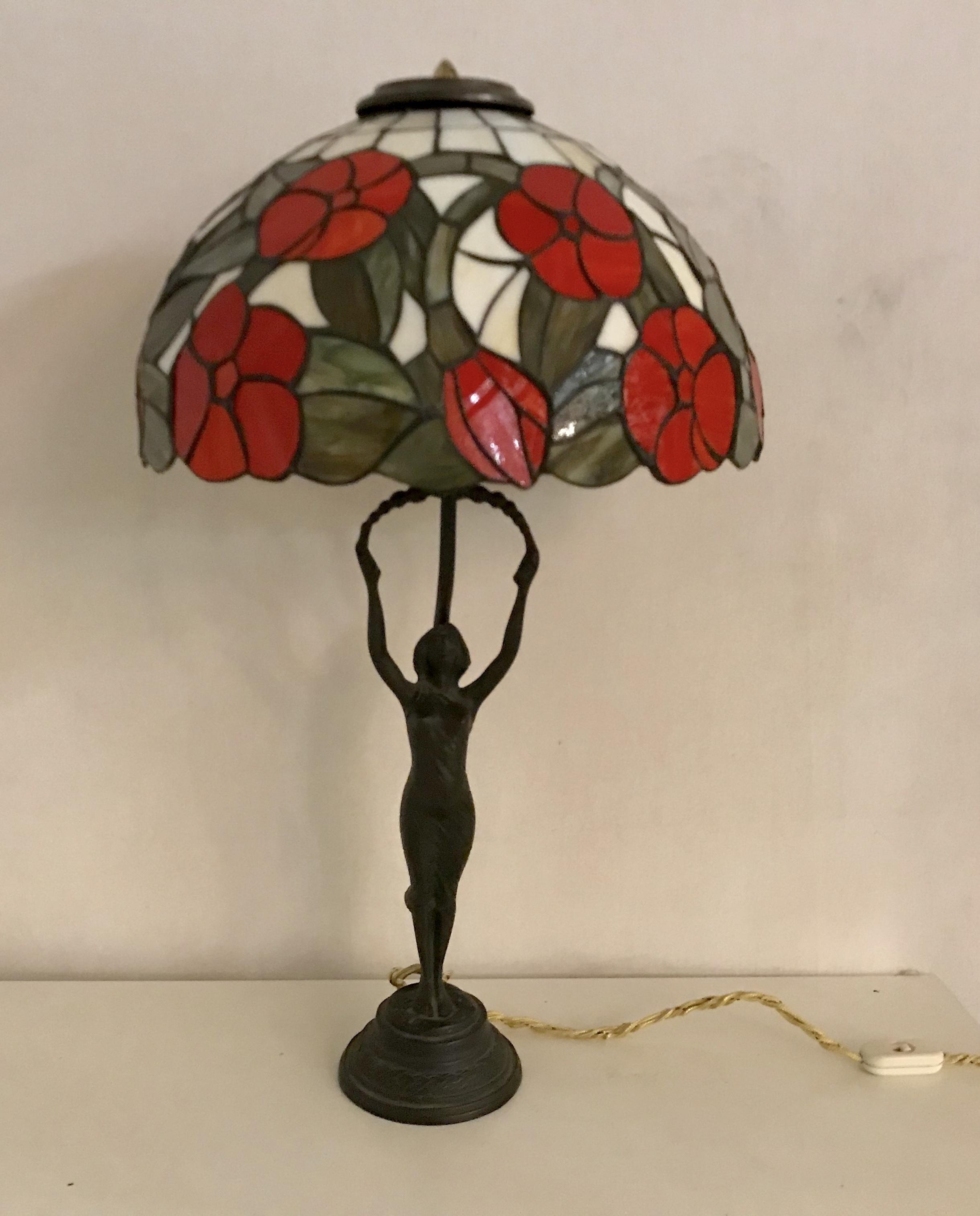 Bronze Tiffany Table Lamp