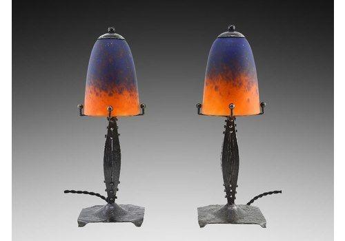 Charles lemanceau french art deco ceramic antelopes vinterior