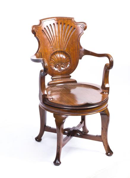 Antique Edwardian Mahogany Inlaid Armchair C.1900