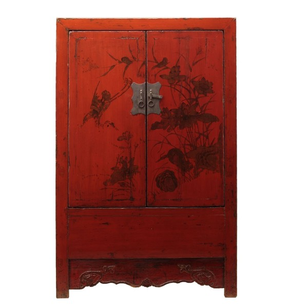 Red Decorated Cabinet C.1935
