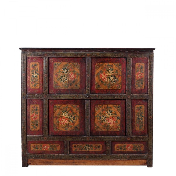 Tibetan Cabinet C.1965 With Two Double Cupboards