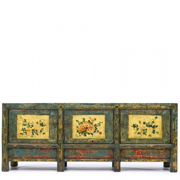 Large Green Decorated Sideboard C.1930