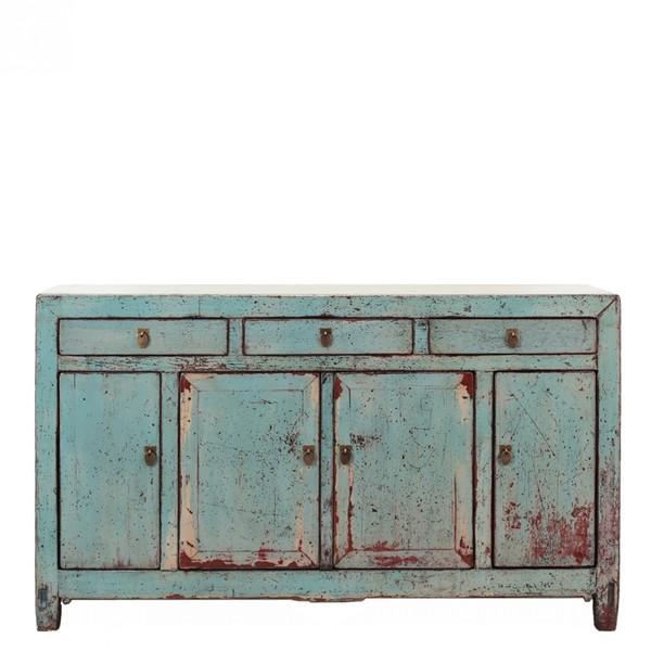 Pale Blue Antique Sideboard C.1900