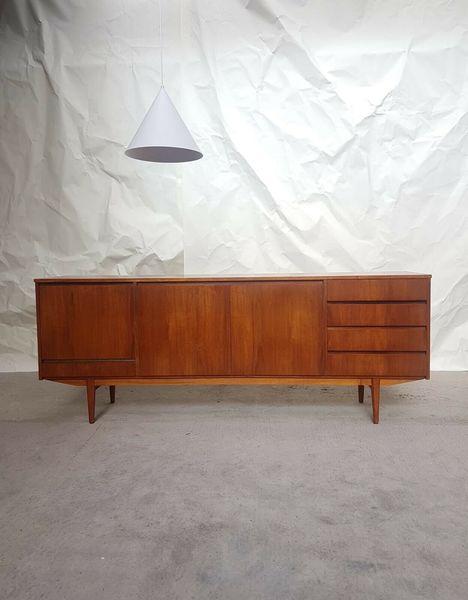 Danish Design Credenza : Vtg mid century long teak ft sideboard credenza danish design s