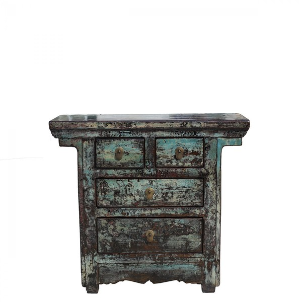 Chinese Antique Cabinet C. 1900 Gansu Province