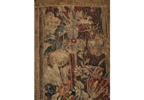A Rare 17th Century Fragment Of A Verdure Tapestry – Runner.