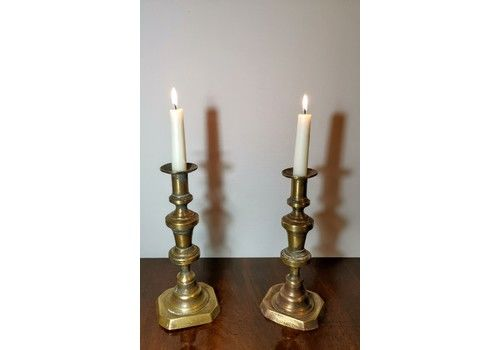 Rare Pair Of  Candle Sticks
